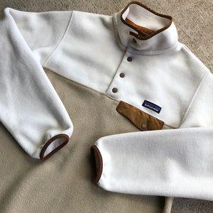 Patagonia Snap T Medium Tan Khaki Fleece Pullover